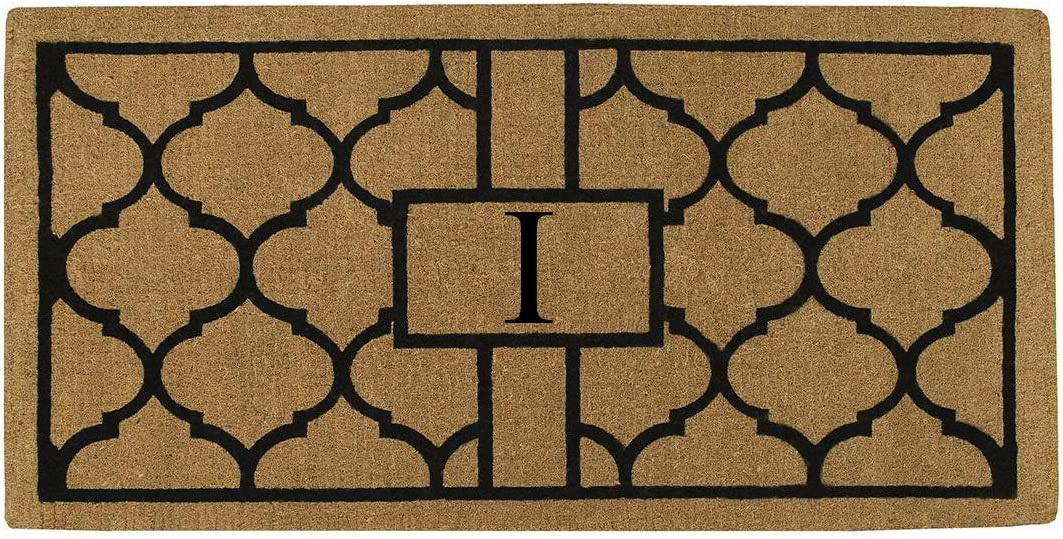 Home More 180083672I Pantera 3 X 6 Extra-Thick Monogrammed Doormat Letter I