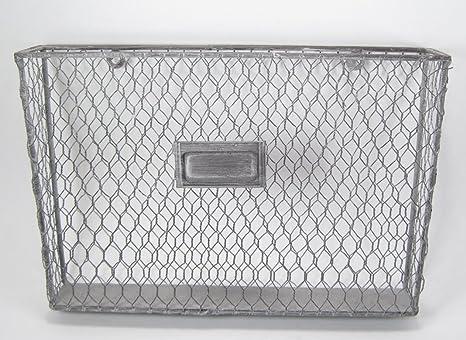 Amazon.com : Liza Metal Single File Folder Holder - Chicken Wire Off ...