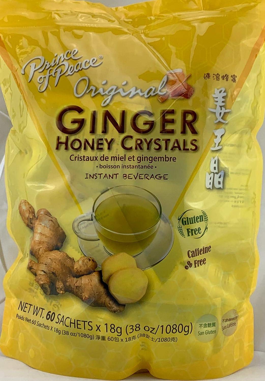 Instant Ginger Honey Crystals Family Value Pack 60 Sachets 18g per Sachets