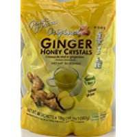 Instant Ginger Honey Crystals Family Value Pack 60 Sachets 18g per Sachets ( Total...