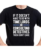 Getting Shirty Time Lords & Consulting Detectives (Inspired by Doctor Who & Sherlock) Men's T-Shirt