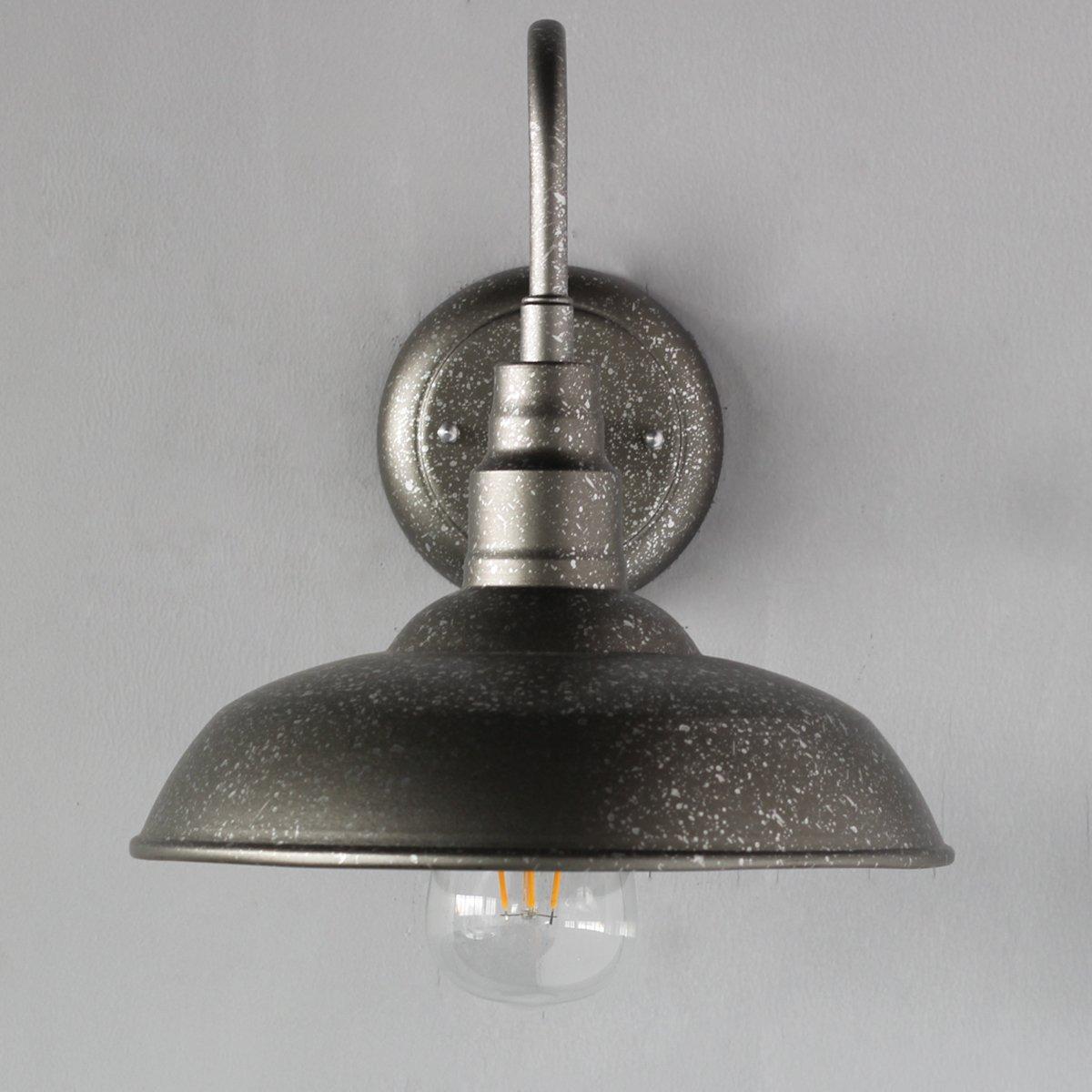 CUICAN Applique murale industrielle,Lampe col de cygne grange /éclairage ferme vintage-rouge D26*H25cm