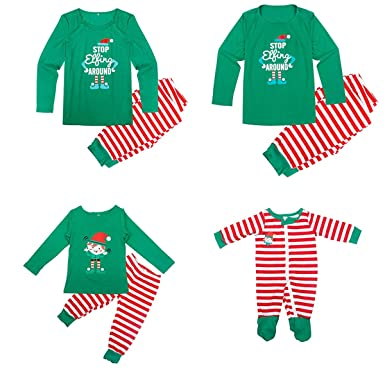 Christmas Family Matching Pyjamas Set for Dad Mom Kids Baby Sleepwear  Homewear Outfit (Baby 1912a98f4