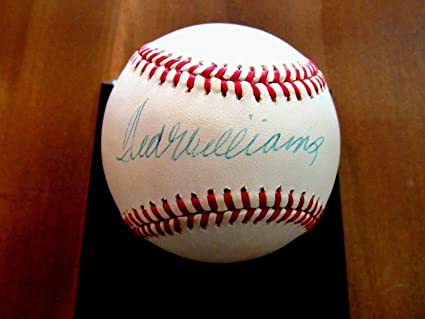 338b94a00ec Image Unavailable. Image not available for. Color  Ted Williams Hall of  Fame Red Sox Autographed Signed Auto Vintage Bobby Brown Baseball JSA  Certified