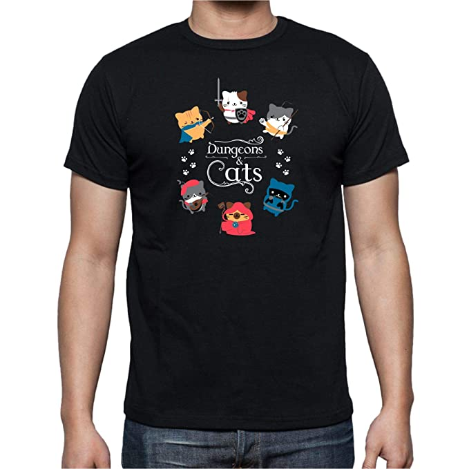 Camiseta de Hombre rol D&D Gatos Dungeons and Dragons S