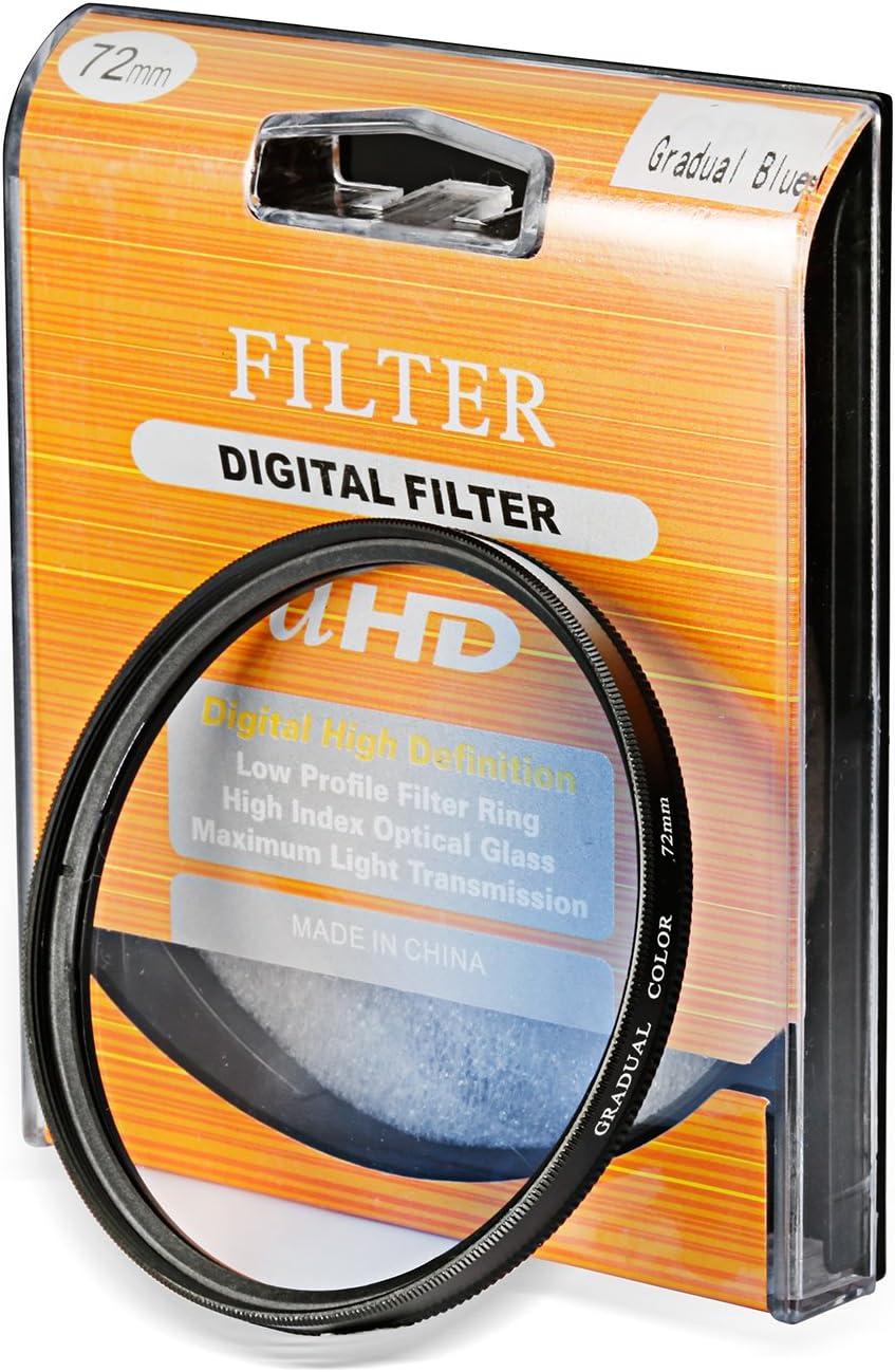 Neewer 72MM Gradual Blue Lens Filter for Kodak Sony Nikon or Any Camera with 72MM Filter Thread
