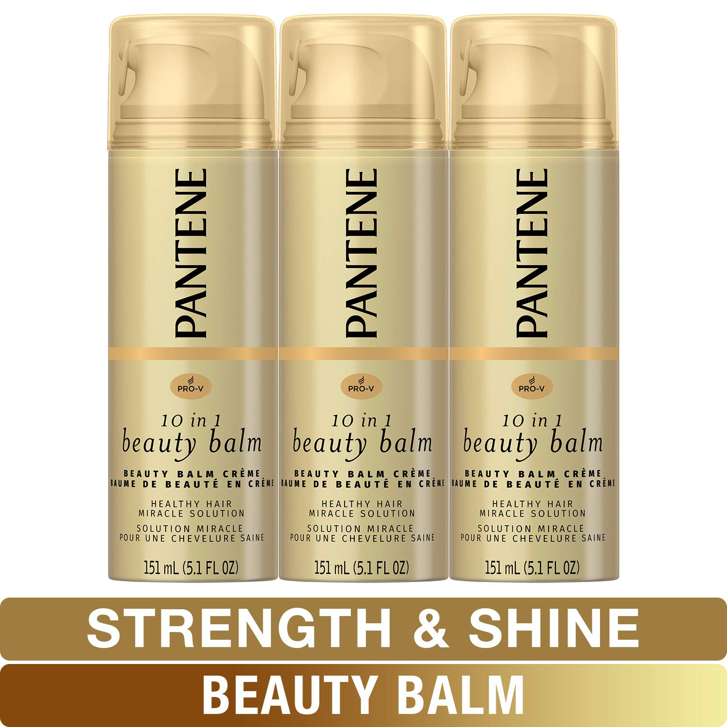 Pantene, Beauty Balm, Softness, Strength and Shines, Pro-V , 5.1 Fl Oz (Pack of 3)