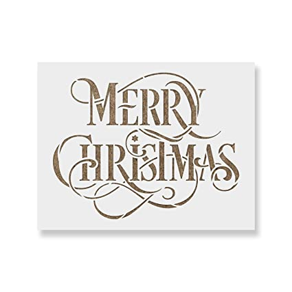 Merry Christmas Stencil Template Beautiful Christmas