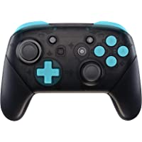 eXtremeRate Heaven Blue Repair ABXY D-pad ZR ZL L R Keys for Nintendo Switch Pro Controller, Glossy DIY Replacement Full…