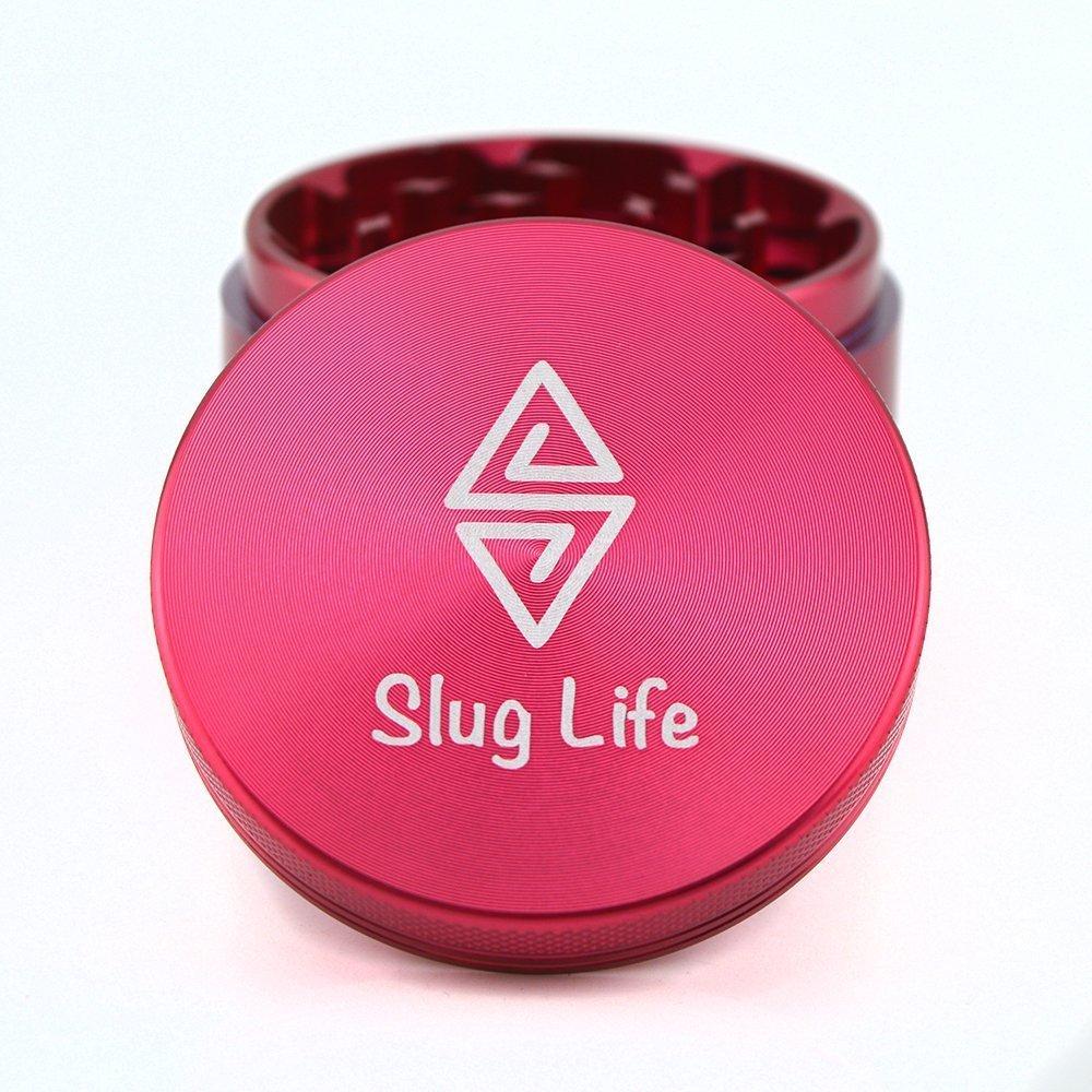 Slug Life Herb Grinder 4 Parts 2.5 Inch with Pollen Catcher (Blue) SLG14251