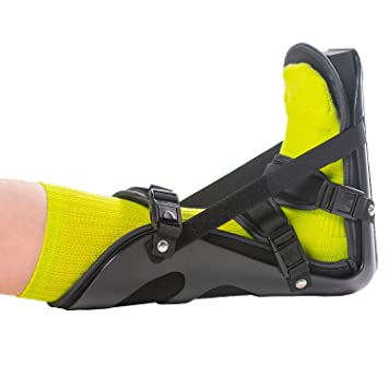 BraceAbility Sleeping Stretch Boot | Plantar Fasciitis Night Foot Splint and Adjustable Achilles Tendonitis Brace for