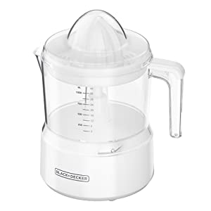 BLACK+DECKER 32oz Citrus Juicer, White, CJ650W