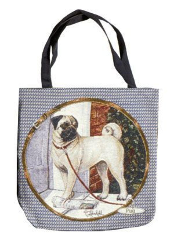 Pug Dog Decorative Shopping Tote Bag 43cm x 43cm B002SAQ19O