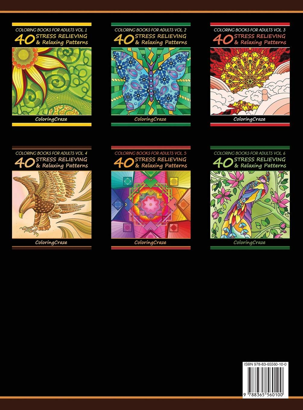 Amazon Com Coloring Books For Adults Volume 4 40 Stress Relieving