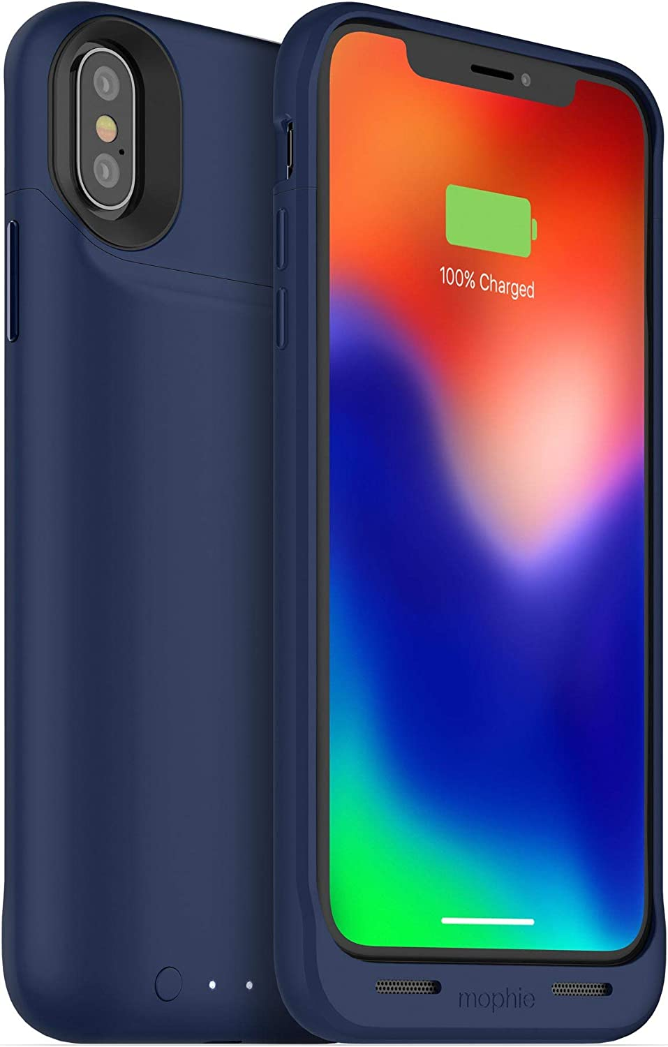 Mophie juice pack wireless - Qi Wireless Charging - Protective Battery Case Made for Apple iPhone X – Blue (401002006)