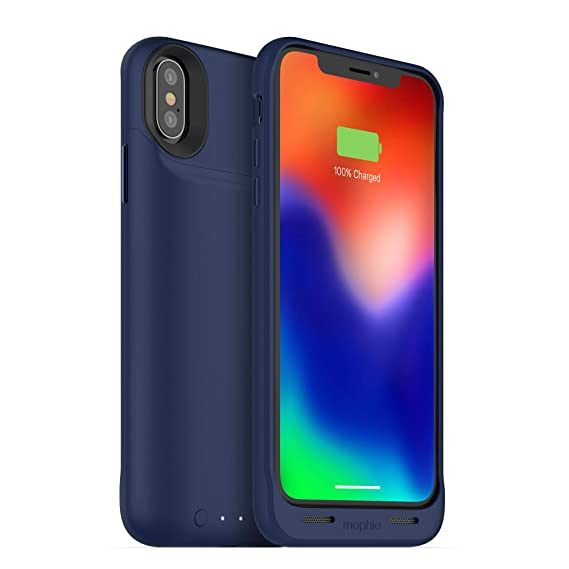 new product 4b72a 472cf mophie juice pack wireless - Qi Wireless Charging - Protective Battery Case  Made for Apple iPhone X – Blue
