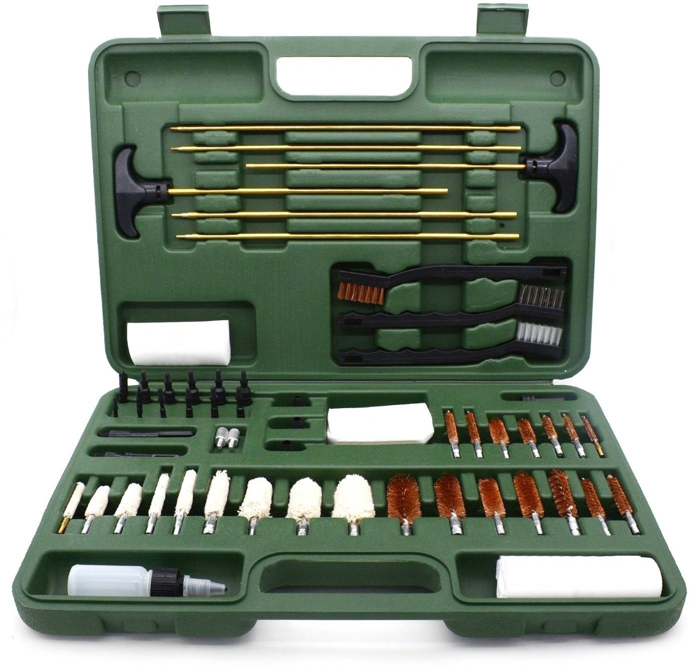 Alritz Gun Cleaning Kit, Brass Rods and Bronze Brushes Cleaning Supplies for Most Guns by Alritz