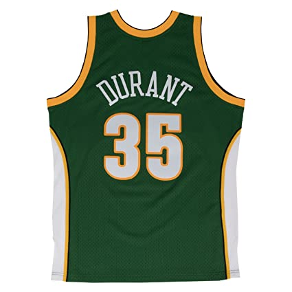 7d21169025f Amazon.com   Kevin Durant Seattle Supersonics Mitchell   Ness NBA Throwback  Jersey - Green   Sports   Outdoors