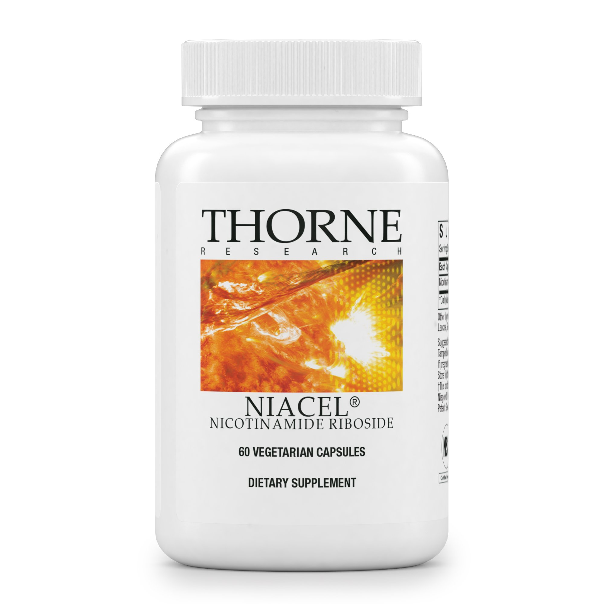 Thorne Research - NiaCel - Nicotinamide Riboside Supplement with ChromaDex Niagen - NSF Certified for Sport - 60 Capsules