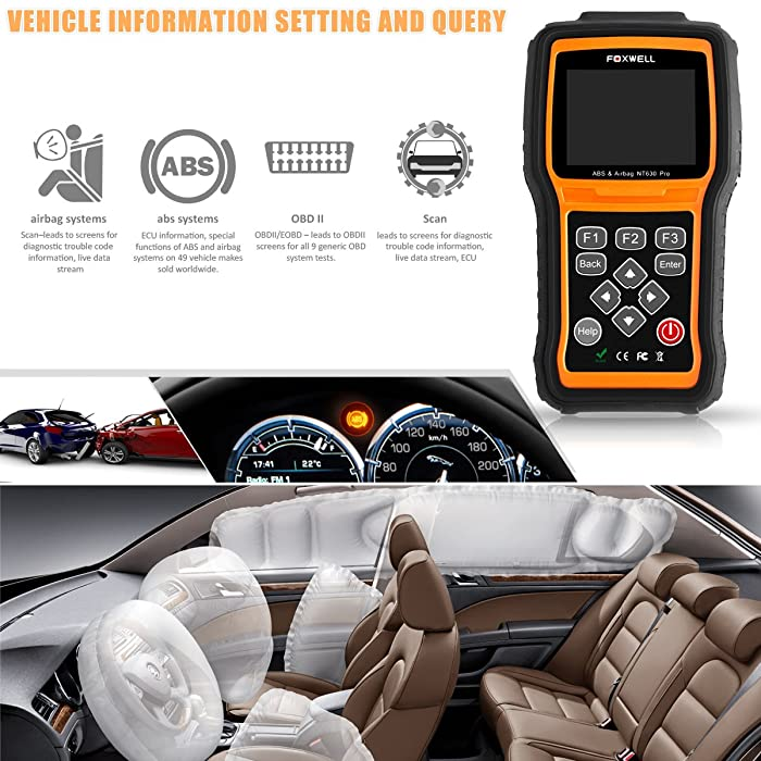 FOXWELL NT630 Elite is one of the best abs airbag diagnostic scan tool