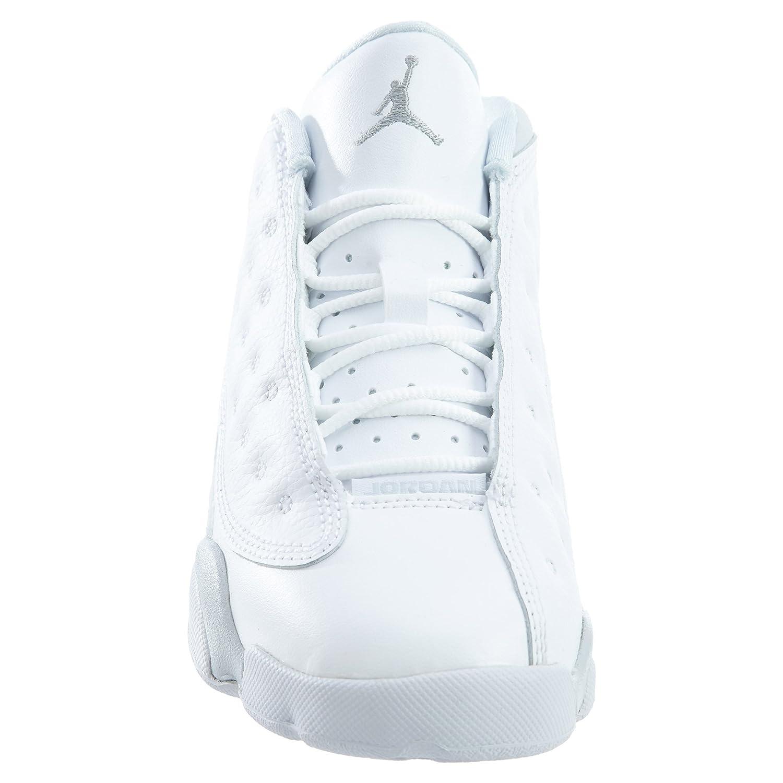48bbe9564ed7c0 Jordan 310812-100 PRESCHOOL 13 RETRO LOW BP WHITE METALLIC SILVER  Jordan   Amazon.co.uk  Shoes   Bags