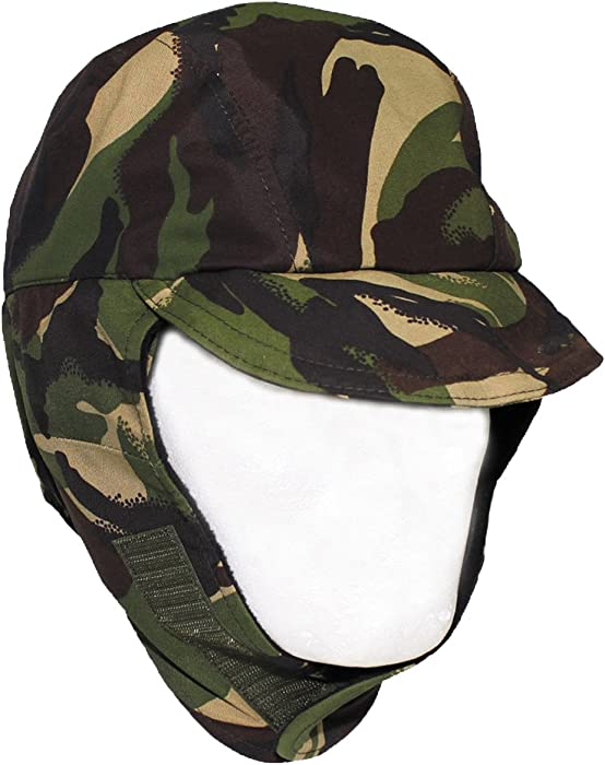 British Army DPM Camo Waterproof Gore TEX Hat Lined Cold Weather Cap  (Small)  Amazon.co.uk  Clothing c93acd93649