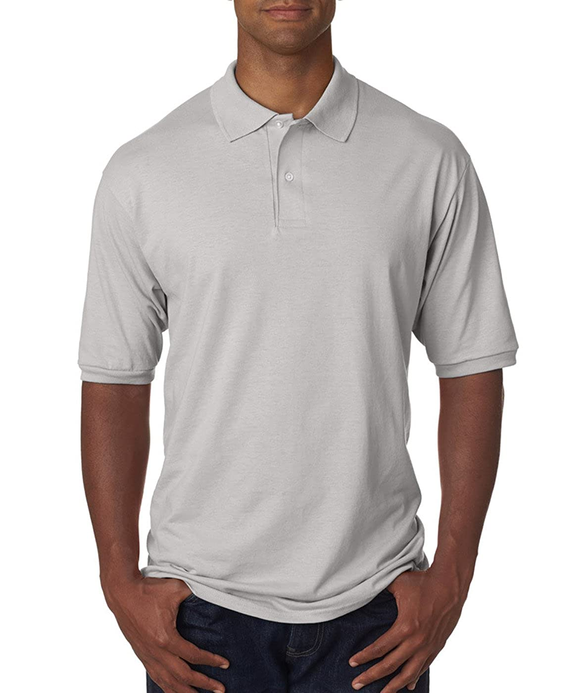 Jerzees Mens Stain Resistant 1X1 Ribbed Cuffs Polo Shirt