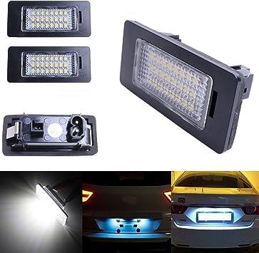 Ricoy 24 Leds Zur Kennzeichenbeleuchtung Für E81 E82 E90 M3 E92 E70 E39 F30 E60 E61 E93 6000 K 2er Packung Auto