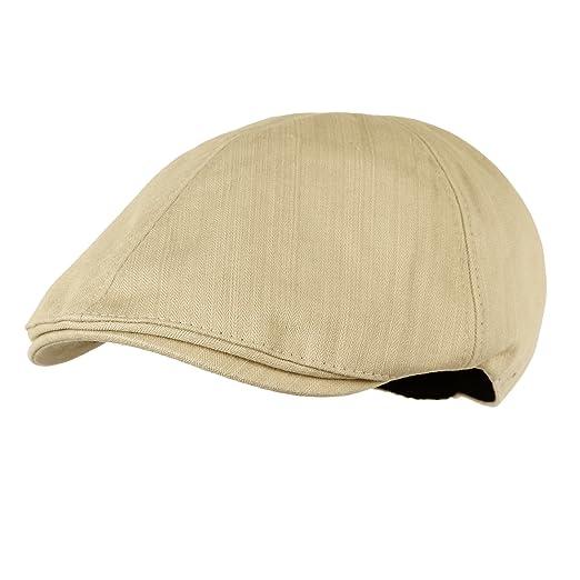 d79d72d88b9 WITHMOONS Simple Newsboy Hat Flat Cap SL3026 (Beige) at Amazon Men s ...