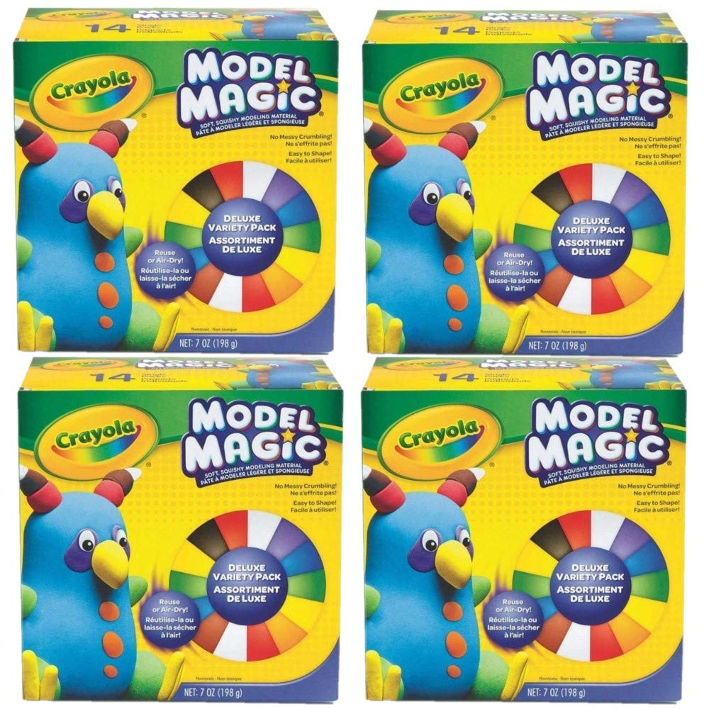 Set of 4 14//Pack Net .7 Ounce, Crayola Model Magic Deluxe Variety Pack