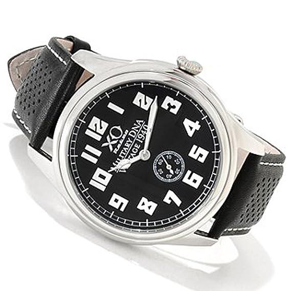 Nueva XO Retro para hombre británico Spitfire Vintage SEGUNDA GUERRA MUNDIAL 1940 Militar ADN correa de piel: Amazon.es: Relojes