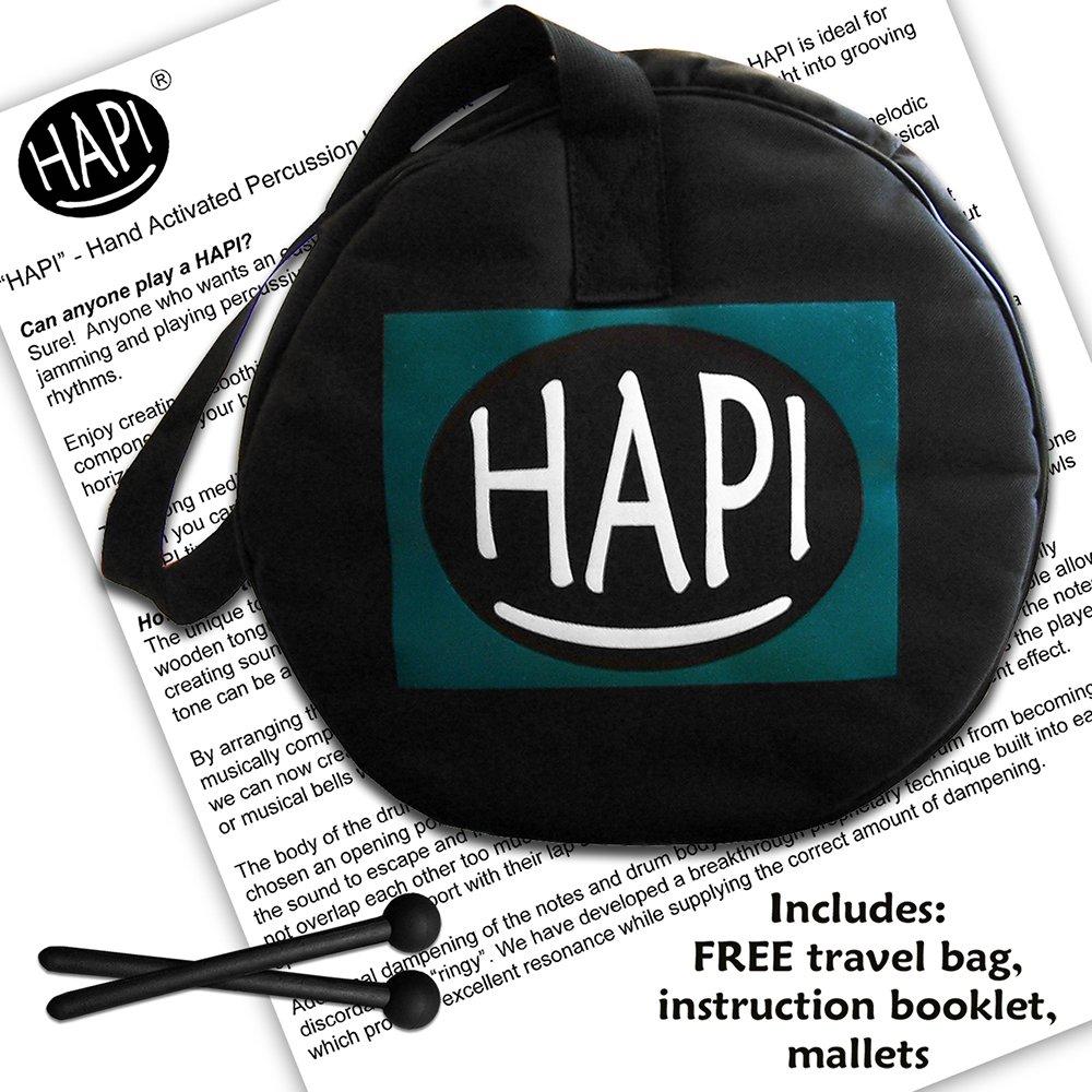 HAPI HDSLIMGMJ Steel Drum - G Major Slim Tongue Percussion Hand Drum with FREE padded travel bag,