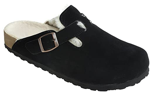 Mens Classic Suede Clog Backless Slip On Loafer Slipper