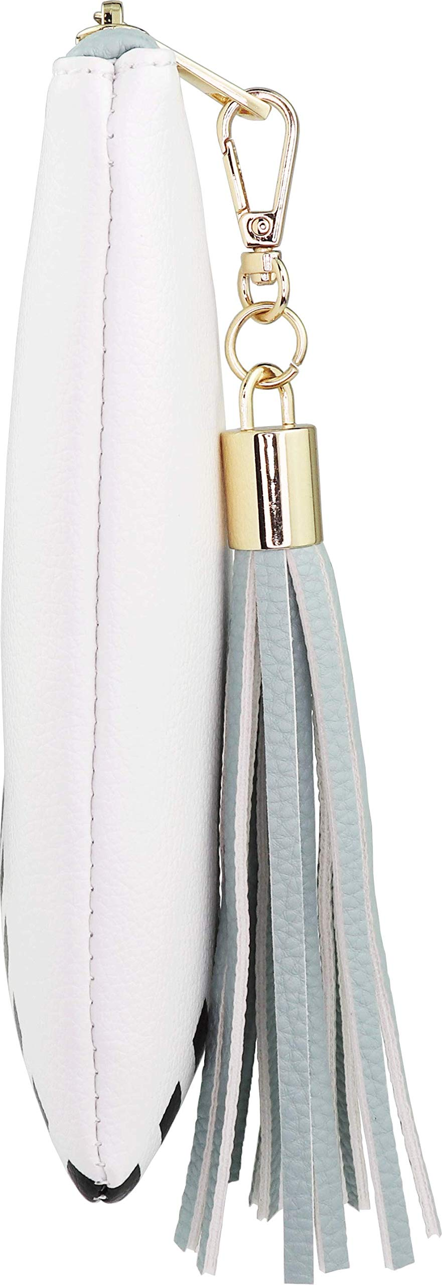 B BRENTANO Vegan Clutch Bag Pouch with Tassel Accent (Spearmint) by B BRENTANO (Image #3)