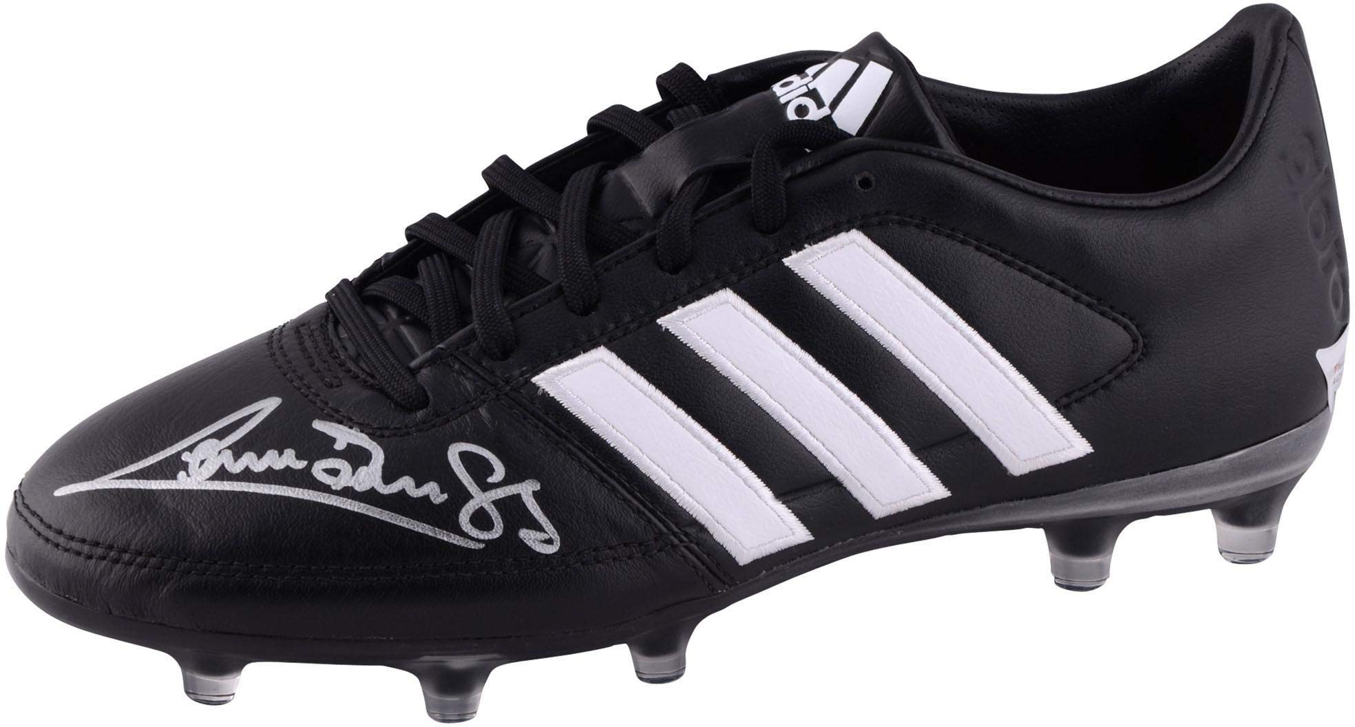 Graeme Souness Liverpool Autographed Black and White Adidas Gloro Soccer Cleat ICONS Fanatics Authentic Certified