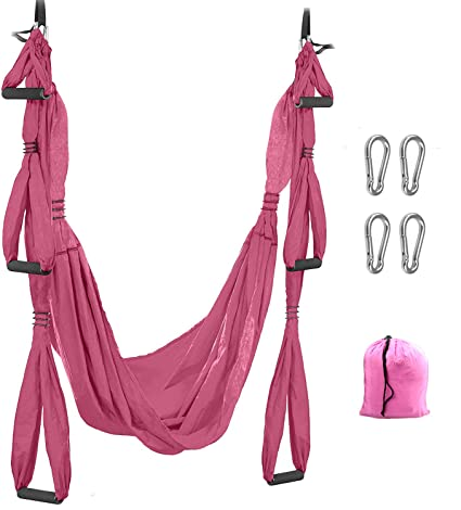 SHEYO Aerial Yoga Swing Set - Hamaca de Yoga + Kit de ...