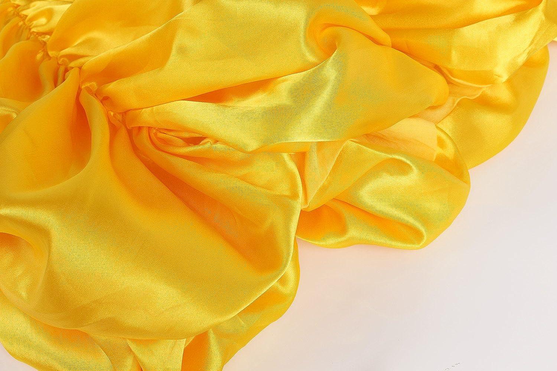 JerrisApparel Principessa Belle Carnevali Costume Vestito da Ragazza