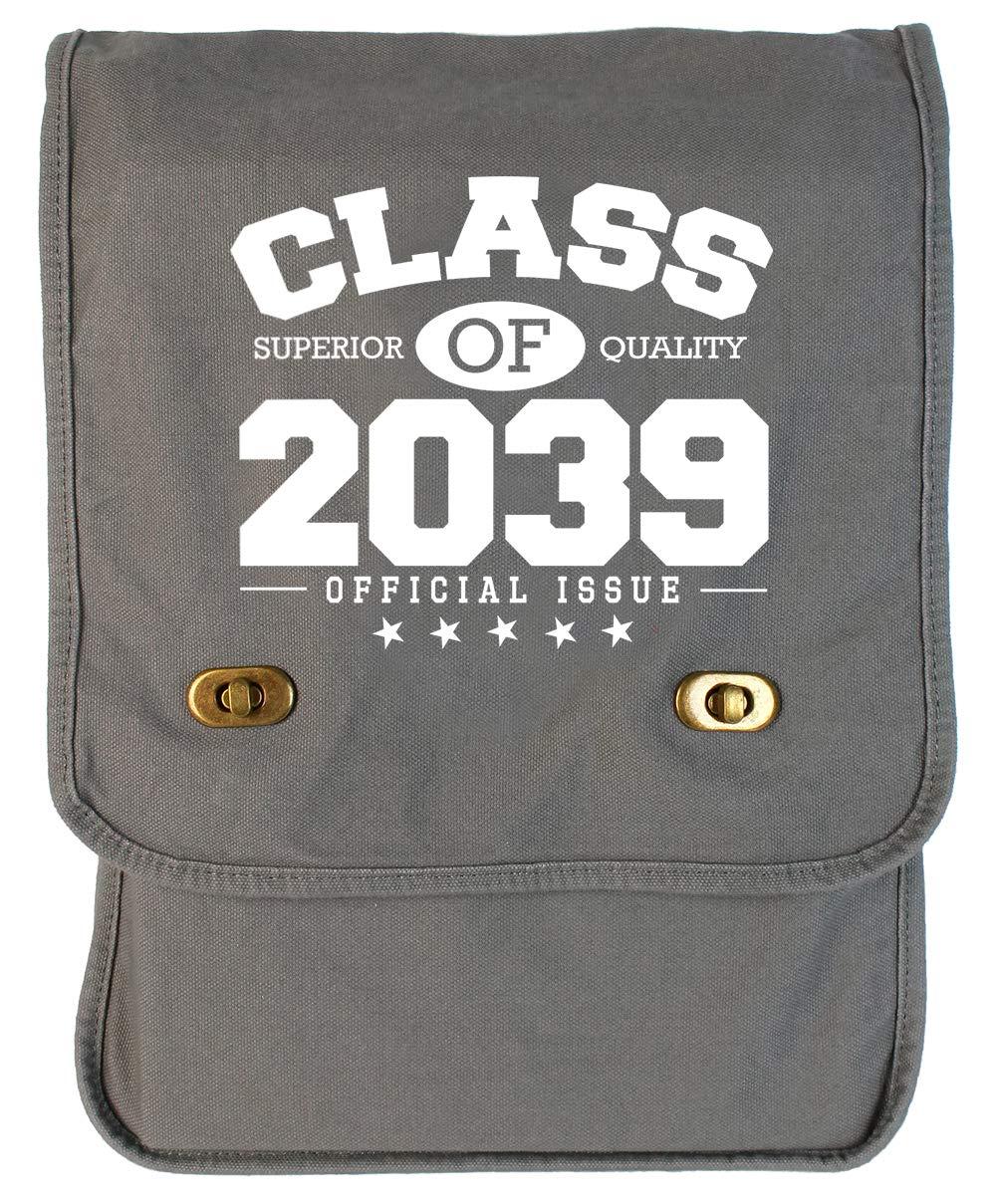 Tenacitee Class of 2039 Grey Brushed Canvas Messenger Bag
