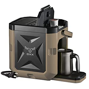OXX COFFEEBOXX Job Site Single Serve Coffee Maker, Desert Tan