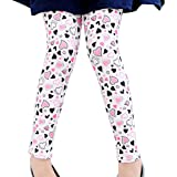 Aivtalk Girls Spring White Cotton Full Length Leggings Tight Butterfly