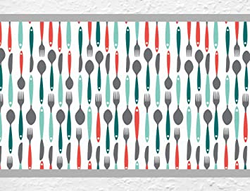 Bordüre Küche | I Love Wandtattoo B 10103 Kuchenbordure Besteck Bordure Kuche Gabel