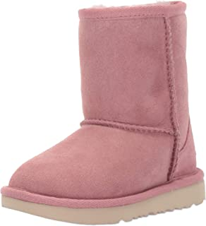 803ca564095 Amazon.com | UGG Girls K Classic Short II Rainbow Pull-on Boot, Pink ...