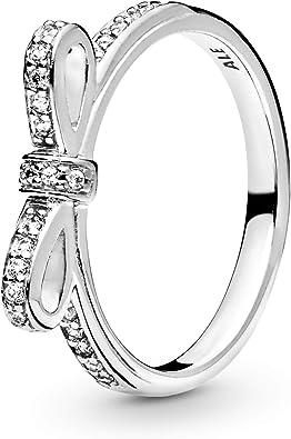 anello pandora con fiocco