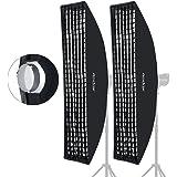 "Godox 35x160cm 14""x63"" Beehive Honeycomb Grid Strip Softbox Bowens Mount for Studio Flash (2pcs)"