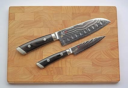 Compra Damasco Juego de cuchillos Kai Shun Kaji de cuchillo ...