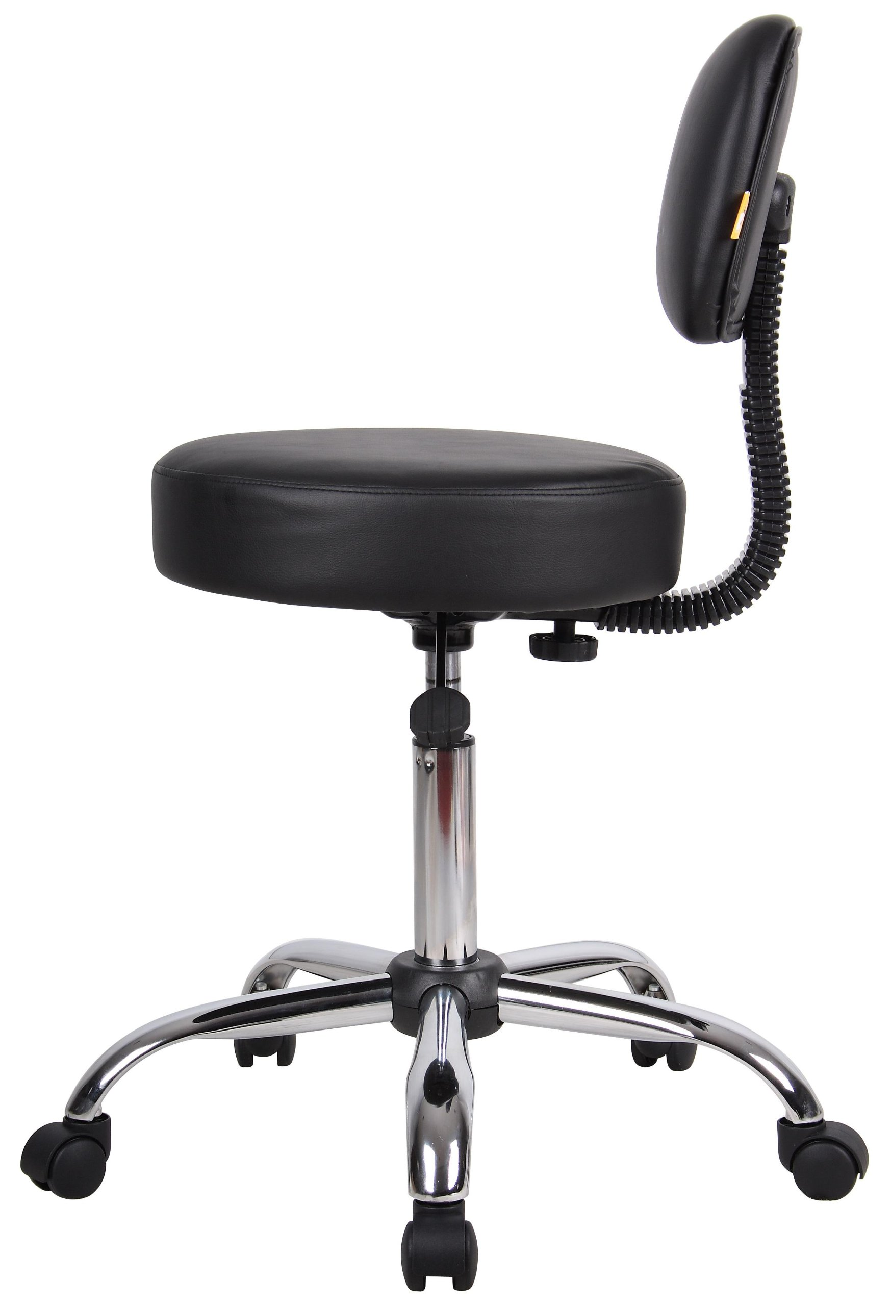 Boss Office Products B245-BK Be Well Medical Spa Stool with Back in Black by Boss Office Products (Image #4)