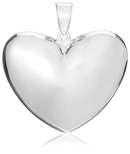 Tuscany silver sterling silver large puffed heart pendant amazon tuscany silver sterling silver large puffed heart pendant aloadofball Gallery