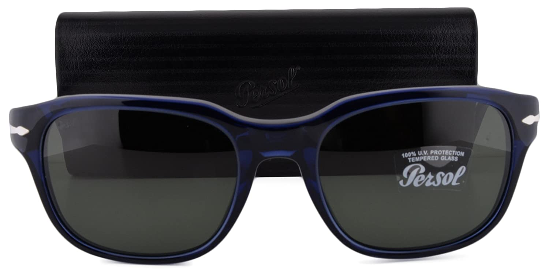 d24f05bc164b2 Persol PO3112S Sunglasses Blue w Green Lens 181 31 PO 3112S For Men   Amazon.in  Clothing   Accessories