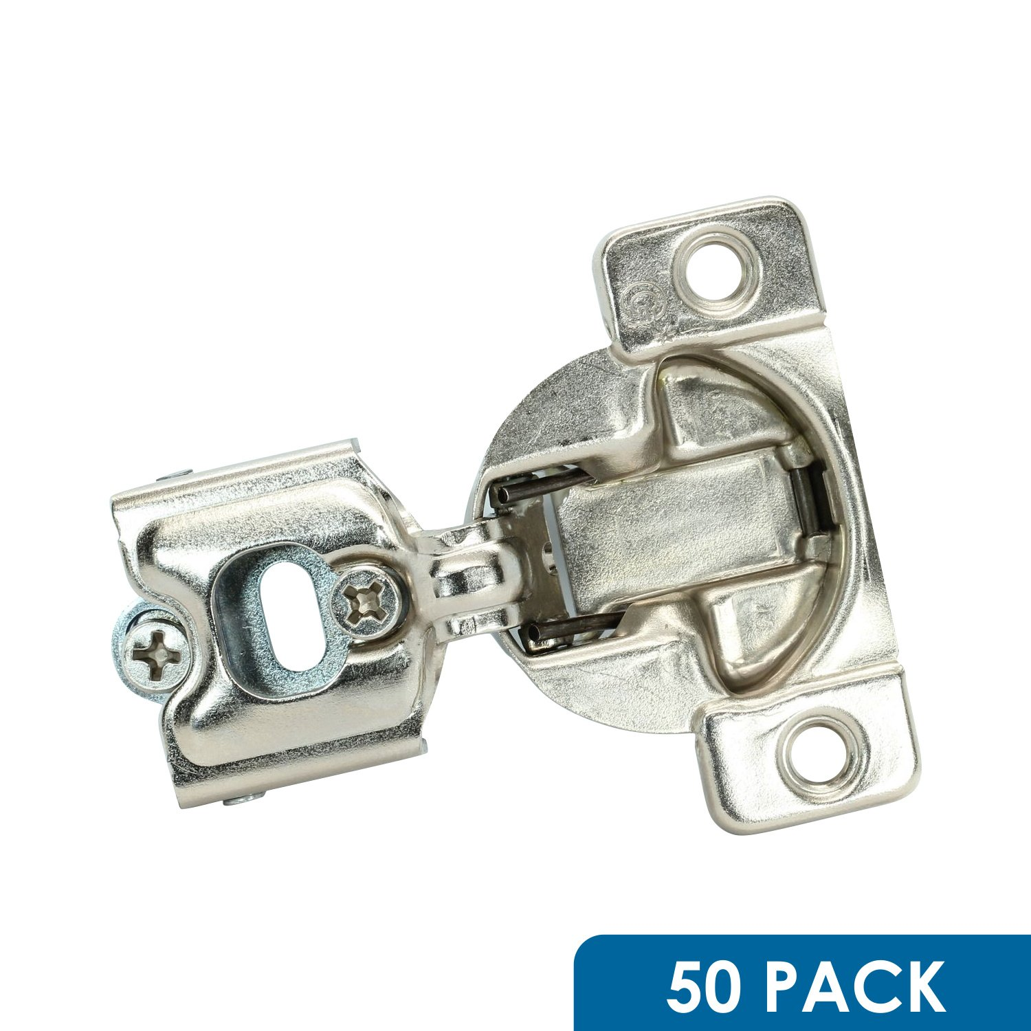 50 Pack Rok Hardware Grass TEC 864 108 Degree 1/4'' Overlay Self Close Screw On Compact Cabinet Hinge 04396-15 3-Way Adjustment