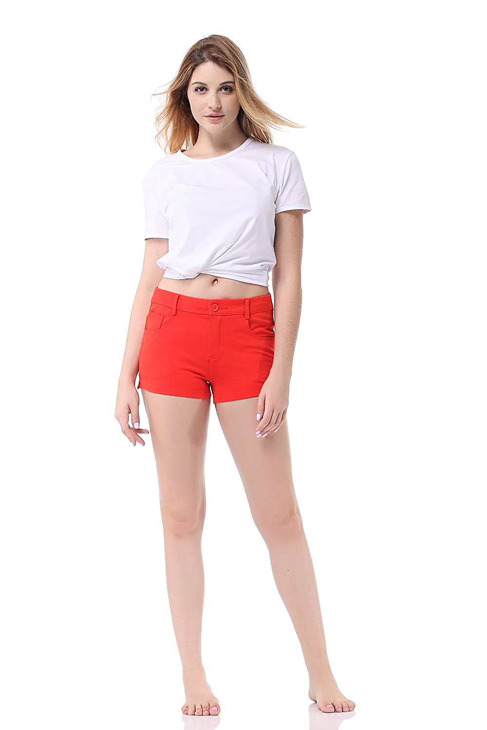 a3efae2aa0 Pau1Hami1ton GP-02 Womens Bermuda Shorts Solid Summer Color Stretch Fitted  Relaxed Flat Hot Walking Pants ...